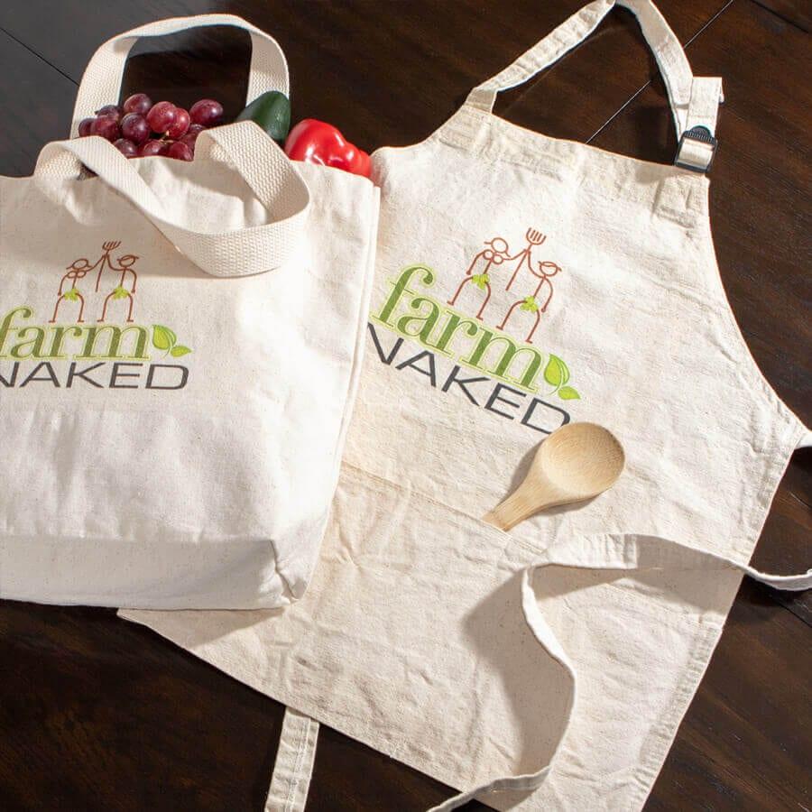 Custom Tote & Apron for Farm Naked