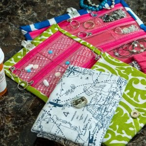 Custom Pill & Jewelry Pouches